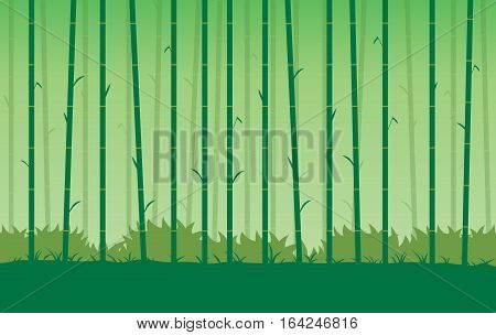 Silhouette bamboo vector Background. Illustration about Nature of China.