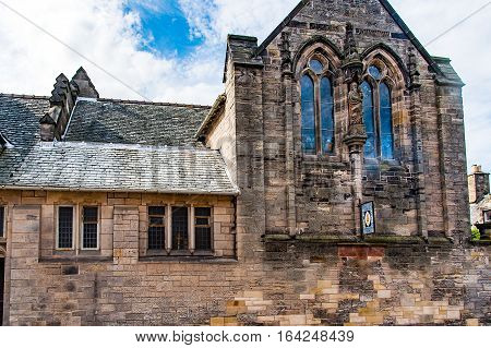 ST ANDREW SCOTLAND UK September 17 2016. All Saint's church in Castle Street.