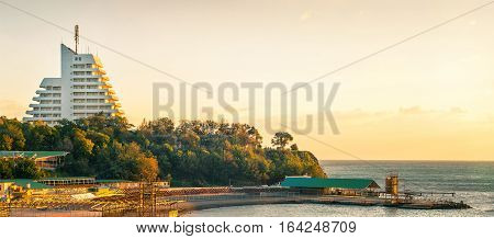 the Little Bay in Anapa Russia off-seasson