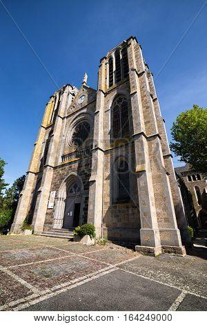 Bottom view on Notre Dame de Greves in Saint-Malo, september France