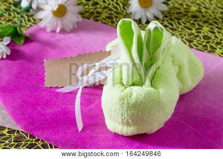 Terry Cloth Towel Children Present. Gift Of Towels Rabbit On A Birthday Or Easter. Children's Art Pr