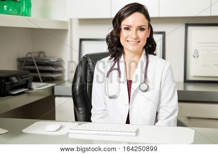 Beautiful Female Doctor In Her Office