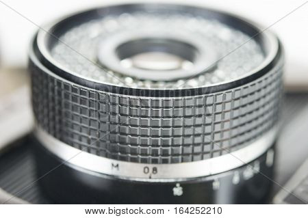 the big black lens from old camera