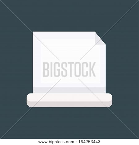 Empty paper sheet message surface. Vector letter folded document isolated canvas space. Empty grunge cardboard vintage letter icon illustration.