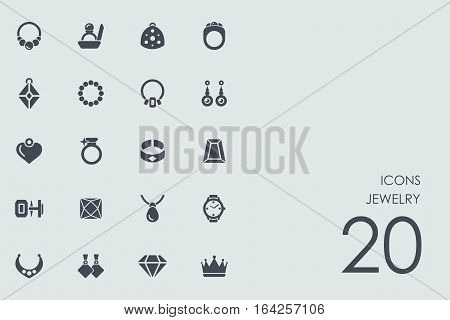 jewelry vector set of modern simple icons