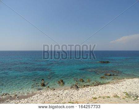 lefkada island greece water sky and beach sea landscape