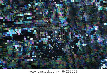 square sequins background  colored like metal annealing