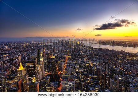 The New York City Manhattan W The Freedom Tower