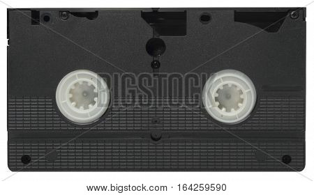 isolated VHS video tape cassette on white background