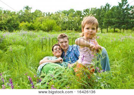 Lovely toddler in grass