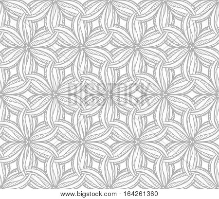 Seamless floral pattern, field of flowers with tabgled petals