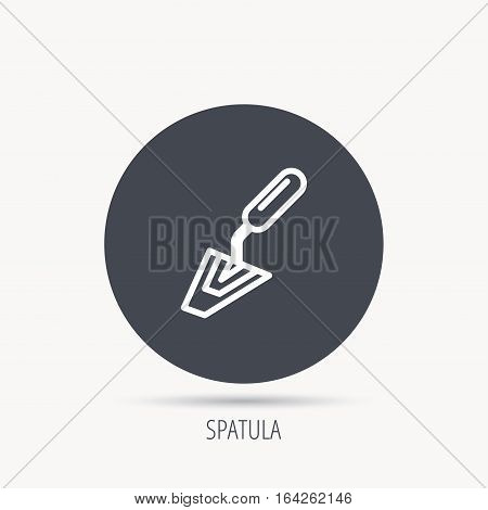 Spatula icon. Finishing repair tool sign. Round web button with flat icon. Vector