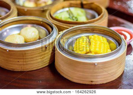 Chinese food menu Dim Sum morning meal
