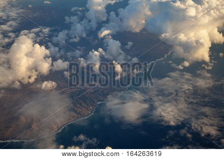 Eroded West Coast Of Fuerteventura
