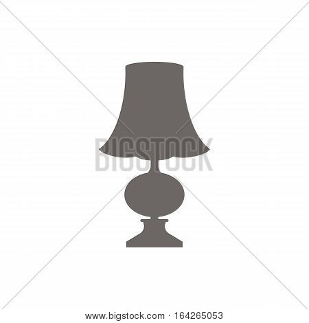 Icon of the bedside lamp. Floor or table lamp. Vector illustration.