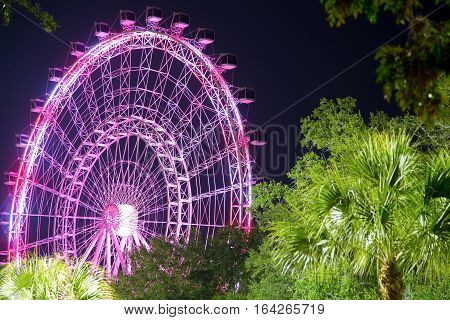 The Orlando Eye is a 400 feet tall ferris wheel in the heart of Orlando and the largest observation wheel on the east coast, United States poster