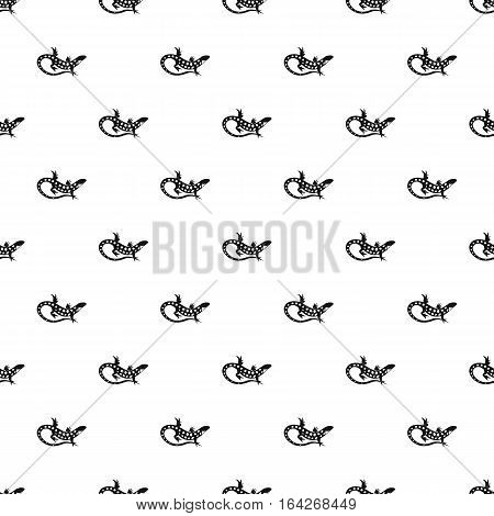 Spotted lizard pattern. Simple illustration of spotted lizard vector pattern for web