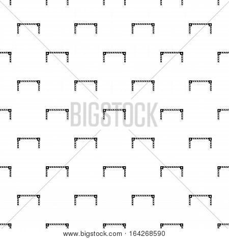 Car barrier pattern. Simple illustration of car barrier vector pattern for web