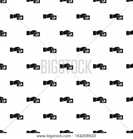 Hand pays for parking pattern. Simple illustration of hand pays for parking vector pattern for web