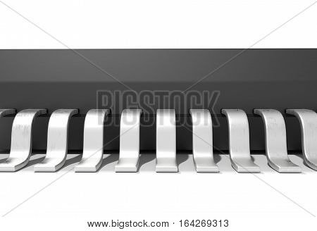 Electonic components microchips isolated on white 3d render
