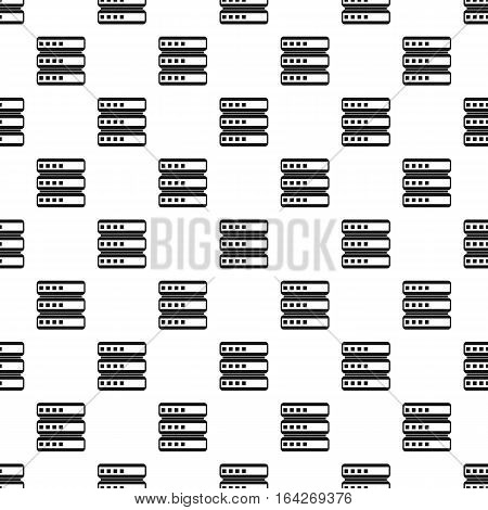 Cell for data storage pattern. Simple illustration of cell for data storage vector pattern for web