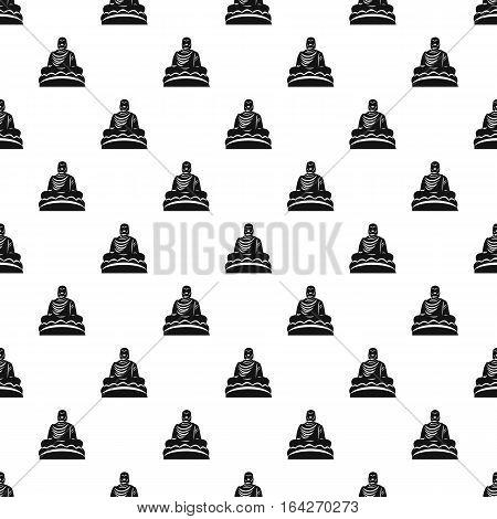 Buddha statue pattern. Simple illustration of buddha statue vector pattern for web