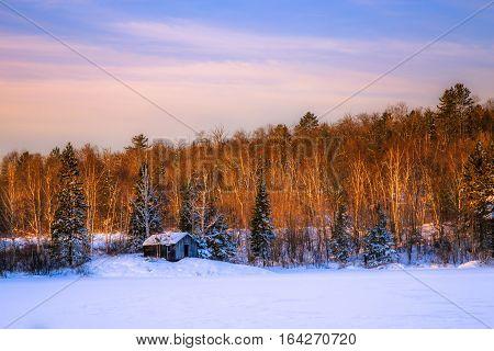 Winter scenery at Fairbank Provincial Park Ontario, Canada