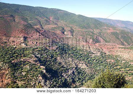 The    Dades Red Atlas Moroco Africa