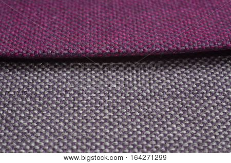 Bright collection of colorful gunny textile. Fabric texture background