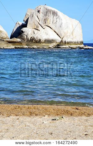 Tao Coastline Bay Isle   Big  Rocks  Froth Foam