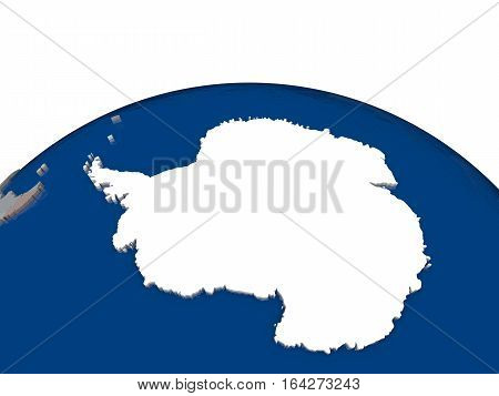 Antarctica With Flag