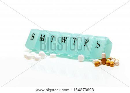 Pill Box And Pain Pills
