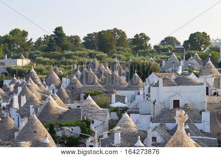 Famous Italian Landmark, Trulli Of Alberobello, Apulian Region, Italy