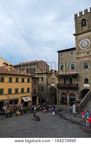 24 july 2014-cortona-italy- the beautiful town of Cortona in Tuscanyitaly