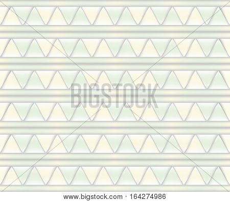 Abstract background of pale yellow and pale green triangles.