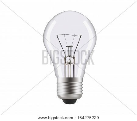 Normal lamp close up. Lamp with hotspots isolated on white background. Realistic vector illustration about illuminant. Mesh gradient.