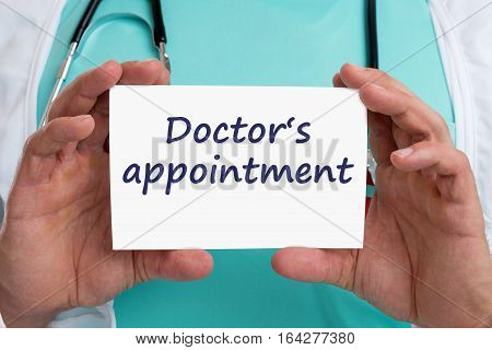 Doctor's Medical Appointment Doctor Medicine Ill Illness Healthy Health