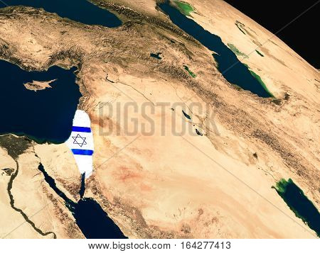 Flag Of Israel From Space