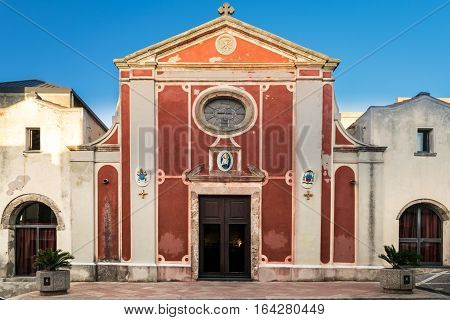 The Basilica of Sant'Antioco Martyr is a Byzantine church located in the town of Sant 'Antioco Sardinia Italy.