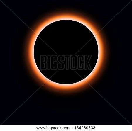 solar eclipse; with isolated on black background