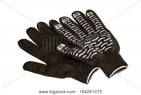 protective gloves, isolated on the white background