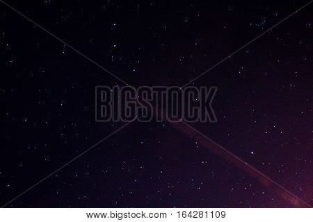 Stars in the night sky, nebula and galaxy