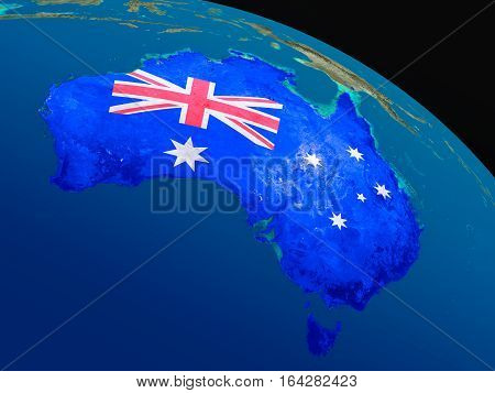 Flag Of Australia From Space