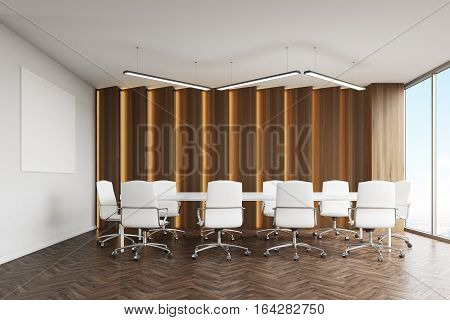 Conference Room With Panels And Poster