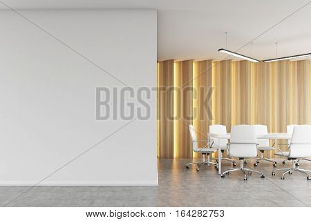 Meeting Room With Light Wooden Panels