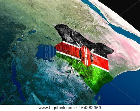 Flag Of Kenya From Space