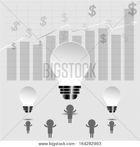 Business idea background- vector. profit graph, stock graph business. Business Combined force.