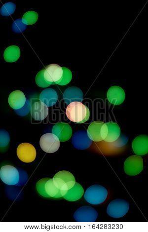 Bright Bulbs Colourful Bokeh
