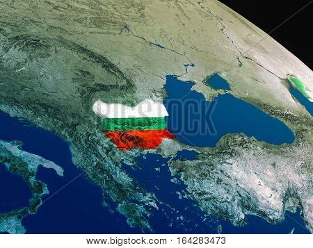Flag Of Bulgaria From Space
