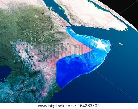Flag Of Somalia From Space